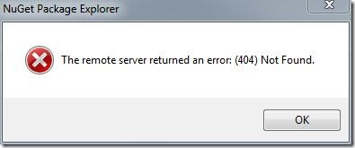 Nuget-Returns-404-Explorer-Error