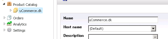 Manage Hostnames screen