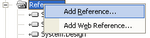 Visual Studio 2003 add a reference context menu